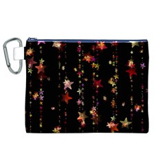 Christmas Star Advent Golden Canvas Cosmetic Bag (XL)