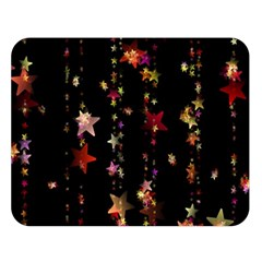 Christmas Star Advent Golden Double Sided Flano Blanket (Large)