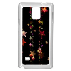 Christmas Star Advent Golden Samsung Galaxy Note 4 Case (White)