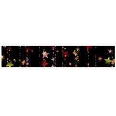Christmas Star Advent Golden Flano Scarf (Large)