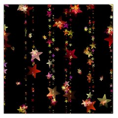 Christmas Star Advent Golden Large Satin Scarf (Square)