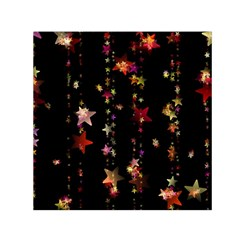 Christmas Star Advent Golden Small Satin Scarf (Square)