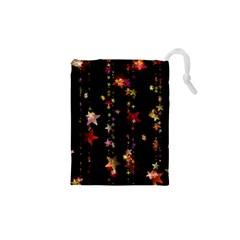 Christmas Star Advent Golden Drawstring Pouches (XS)