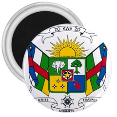 Coat of Arms of The Central African Republic 3  Magnets