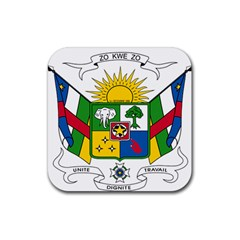 Coat of Arms of The Central African Republic Rubber Square Coaster (4 pack)