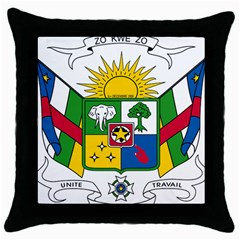 Coat of Arms of The Central African Republic Throw Pillow Case (Black)