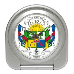 Coat of Arms of The Central African Republic Travel Alarm Clocks