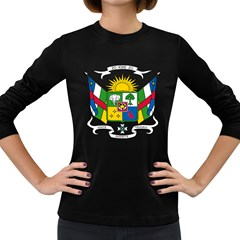 Coat of Arms of The Central African Republic Women s Long Sleeve Dark T-Shirts