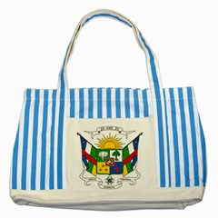 Coat of Arms of The Central African Republic Striped Blue Tote Bag