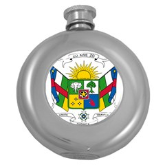 Coat of Arms of The Central African Republic Round Hip Flask (5 oz)