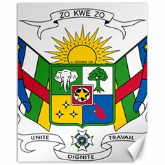 Coat of Arms of The Central African Republic Canvas 16  x 20