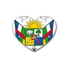 Coat of Arms of The Central African Republic Rubber Coaster (Heart)