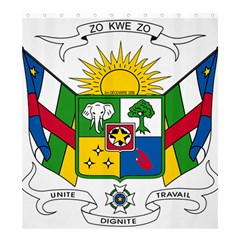 Coat of Arms of The Central African Republic Shower Curtain 66  x 72  (Large)