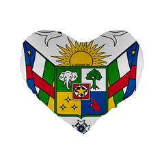 Coat Of Arms Of The Central African Republic Standard 16  Premium Heart Shape Cushions