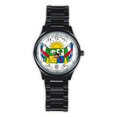 Coat of Arms of The Central African Republic Stainless Steel Round Watch