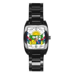 Coat of Arms of The Central African Republic Stainless Steel Barrel Watch