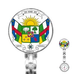 Coat of Arms of The Central African Republic Stainless Steel Nurses Watch