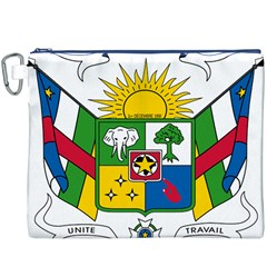 Coat of Arms of The Central African Republic Canvas Cosmetic Bag (XXXL)