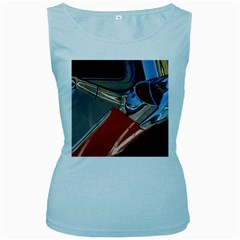 Classic Car Design Vintage Restored Women s Baby Blue Tank Top