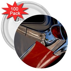 Classic Car Design Vintage Restored 3  Buttons (100 pack)