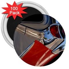 Classic Car Design Vintage Restored 3  Magnets (100 pack)
