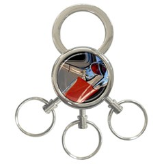 Classic Car Design Vintage Restored 3-Ring Key Chains