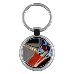 Classic Car Design Vintage Restored Key Chains (Round)