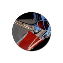 Classic Car Design Vintage Restored Rubber Coaster (Round)