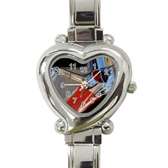 Classic Car Design Vintage Restored Heart Italian Charm Watch
