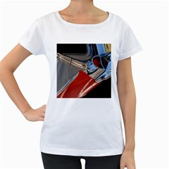Classic Car Design Vintage Restored Women s Loose-Fit T-Shirt (White)