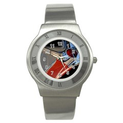 Classic Car Design Vintage Restored Stainless Steel Watch