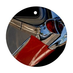 Classic Car Design Vintage Restored Round Ornament (Two Sides)