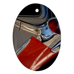 Classic Car Design Vintage Restored Oval Ornament (Two Sides)