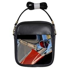 Classic Car Design Vintage Restored Girls Sling Bags