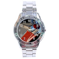 Classic Car Design Vintage Restored Stainless Steel Analogue Watch