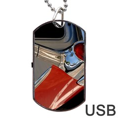 Classic Car Design Vintage Restored Dog Tag USB Flash (Two Sides)