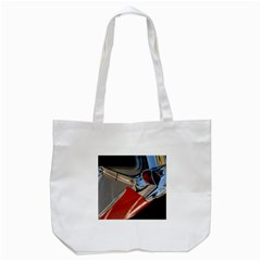 Classic Car Design Vintage Restored Tote Bag (White)