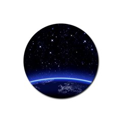 Christmas Xmas Night Pattern Rubber Coaster (Round)