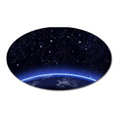 Christmas Xmas Night Pattern Oval Magnet
