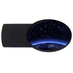 Christmas Xmas Night Pattern USB Flash Drive Oval (2 GB)