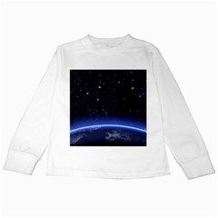 Christmas Xmas Night Pattern Kids Long Sleeve T-Shirts