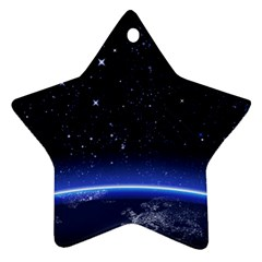 Christmas Xmas Night Pattern Star Ornament (Two Sides)