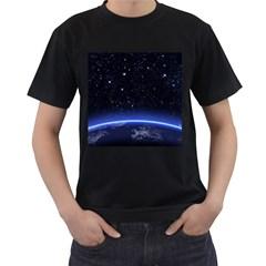 Christmas Xmas Night Pattern Men s T-Shirt (Black)