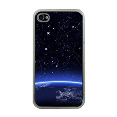 Christmas Xmas Night Pattern Apple iPhone 4 Case (Clear)