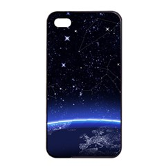 Christmas Xmas Night Pattern Apple iPhone 4/4s Seamless Case (Black)