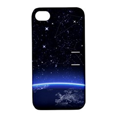Christmas Xmas Night Pattern Apple iPhone 4/4S Hardshell Case with Stand