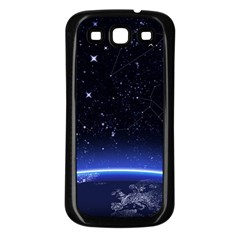 Christmas Xmas Night Pattern Samsung Galaxy S3 Back Case (Black)