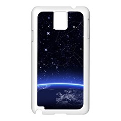 Christmas Xmas Night Pattern Samsung Galaxy Note 3 N9005 Case (White)