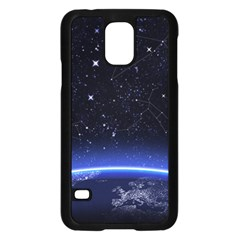 Christmas Xmas Night Pattern Samsung Galaxy S5 Case (Black)