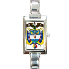 Coat of Arms of Colombia Rectangle Italian Charm Watch